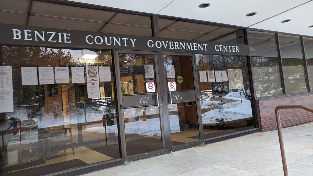 Benzie County Government Center where a Criminal Defense Lawyer in Benzie County Michigan goes to court.