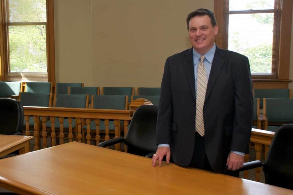 Attorney Matthew Benedict in 13th Circuit Court